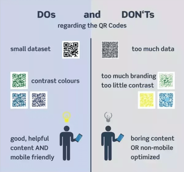 dos and donts of creating a qr code menu