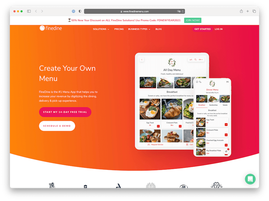 finedine is a full digital restaurant solution with integrated qr code menu